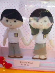 boneka flanel seragam SMA